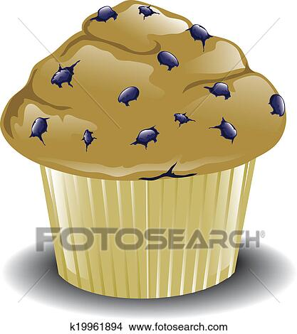 Drawings of Blueberry Muffin k19961894 Search Clip Art