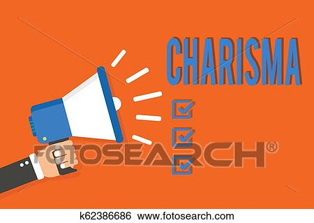 Word writing text Charisma. Business concept for compelling attractiveness or charm that inspire ...