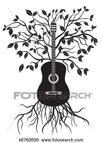 Clip Art of guitar tree k6762659 Search Clipart