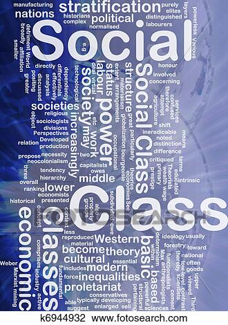Social class background concept Drawing   k6944932   Fotosearch