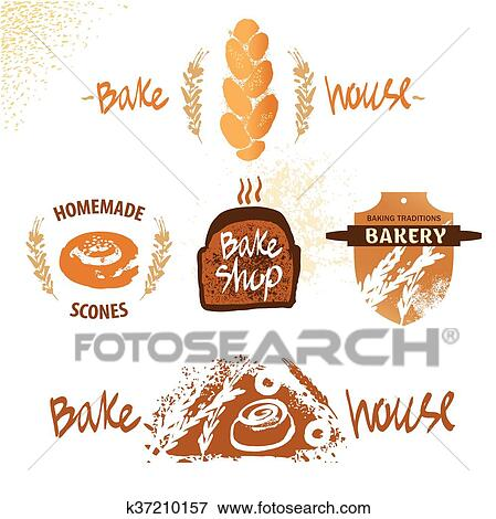 Logo For Fresh Bakery Products From Wheat And Rye Flour Decorat