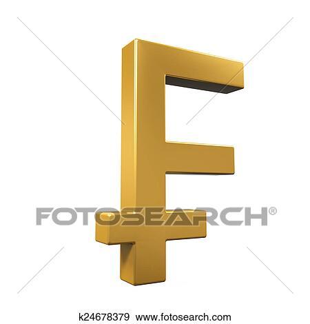 Swiss Franc Symbol Stock Illustration | k24678379 | Fotosearch