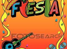 Clip Art of Mexican Fiesta Party Invitation k7139187 ...