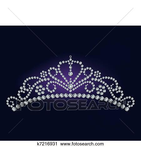 Clipart of Diamond tiara vector illustration k7216931