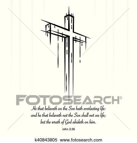 christ cross crucifix sketch
