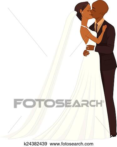 clip art of african american wedding