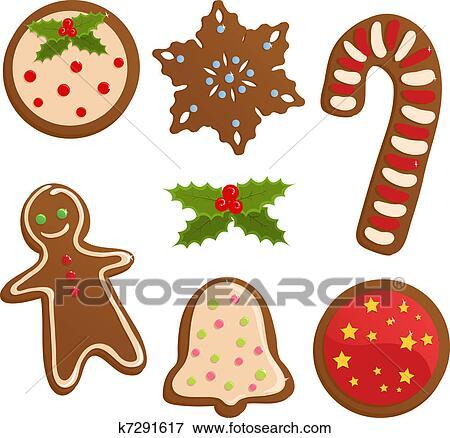 Christmas Cookies Clip Art K7291617 Fotosearch