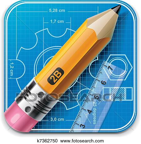 clipart of vector technical drawing