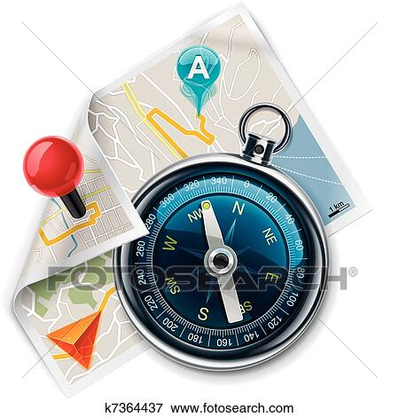 vector navigation route map xxl