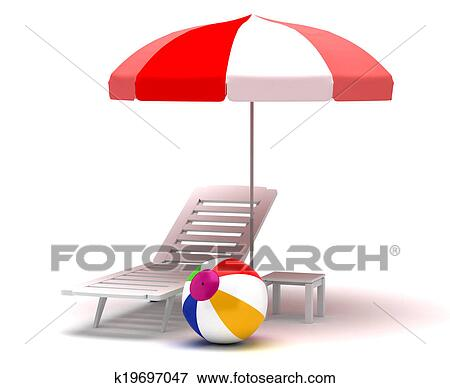 beach chair and umbrella clipart best chairs for sex stock illustration of k19697047 search