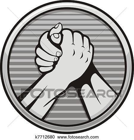 Arm wrestling icon Clipart   k7712680   Fotosearch