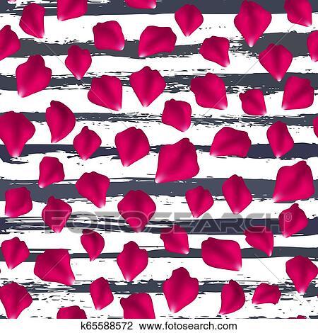seamless pattern falling rose