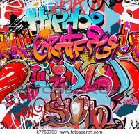 Clipart of Graffiti wall vector urban hip hop k7760793 ...