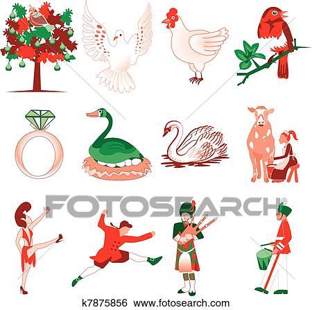 clip art of 12 days christmas