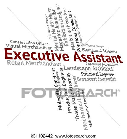 Executive Assistant Indicates Senior Manager And Aide Stock Image | k31102442 | Fotosearch