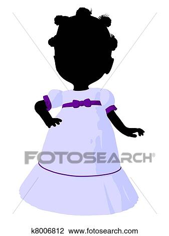 clip art of little african american