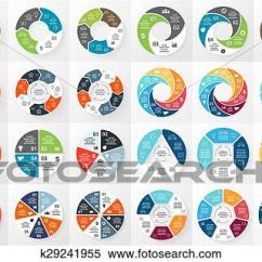 3 Arrow Circle Diagram Er Crow S Foot Vector Arrows Infographics Bundle Template For Cycle Clipart Graph Presentation