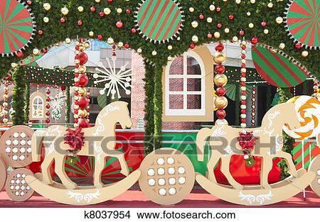 christmas scenery stock illustration