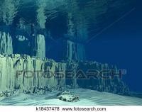 Stock Illustration of 3D Ocean floor k18437478 - Search ...