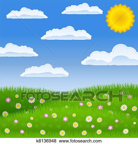 clip art of meadow k8136948