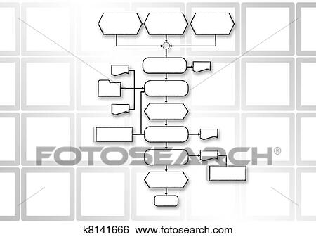 Stock Illustration of flow chart programming process