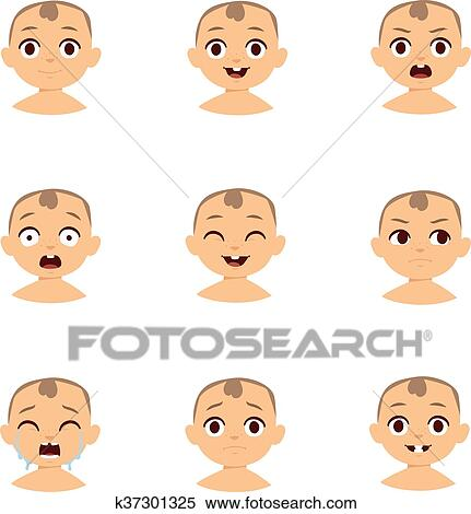 baby emoticons and kid