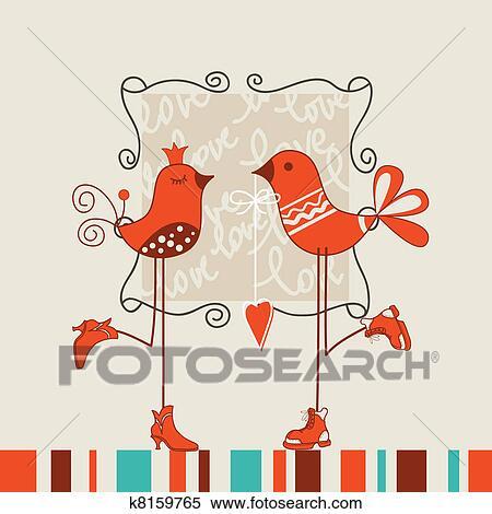 clipart of birds romantic date