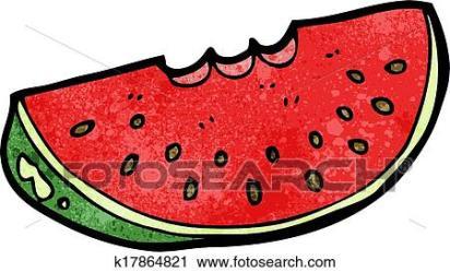 Cartoon watermelon slice Clipart k17864821 Fotosearch