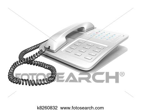 辦公室電話 繪圖 | k8260832 | Fotosearch