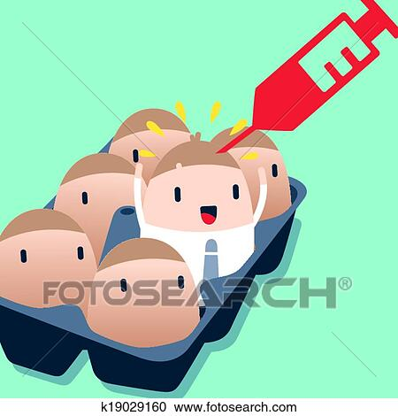 Business man Boost up with injection Clipart | k19029160 | Fotosearch