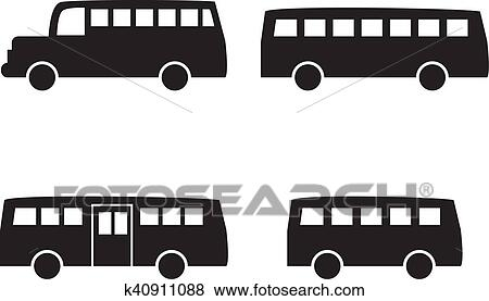 set of big bus