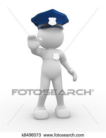 Dessin  policier k8496073  Recherchez des Cliparts des Illustrations et des Images