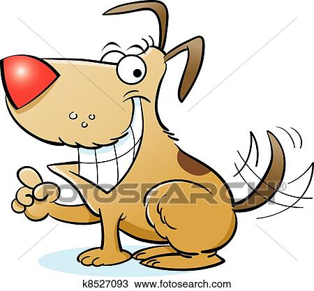 Clipart of Vector Happy Dog k8527093 Search Clip Art