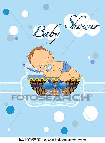 baby shower boy drawing