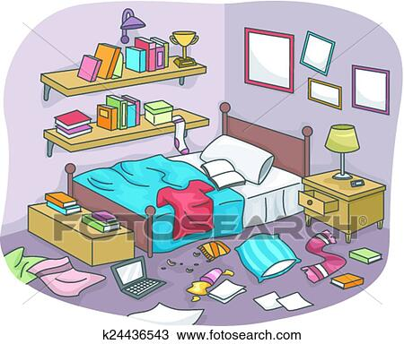 Messy Room Clipart | k24436543 | Fotosearch