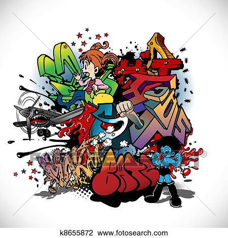 Clipart of Graffiti k8655872 Search Clip Art