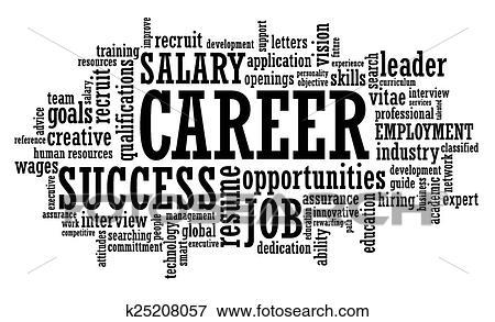 Clip Art of job career opportunity openings wor k25208057