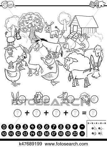 Clip Art of mathematical game for coloring k47689199