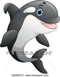 whale killer cartoon cute clipart fotosearch vector illustration clip