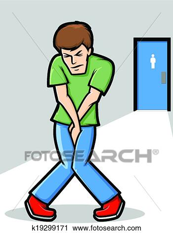 Clipart of Need to Pee k19299171 - Search Clip Art. Illustration Murals. Drawings and Vector EPS Graphics Images - k19299171.eps
