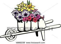 Clip Art - carriola, pieno, di, fiori k8882238 - Cerca ...