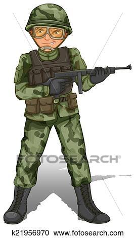 A Brave Soldier Clipart K21956970 Fotosearch