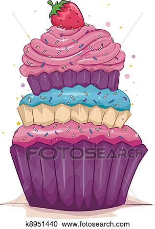 clipart of cupcake k8951440