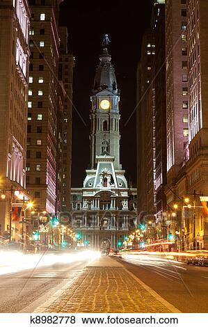 فيلادلفيا الشوارع بجانب الليل ألبوم الصور