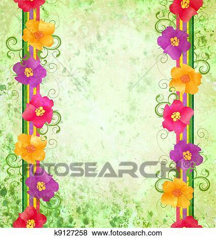 Arquivos de Ilustrao  flores coloridas borda ligado