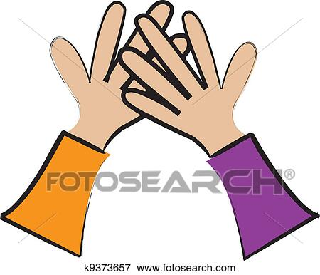 high five clip art k9373657