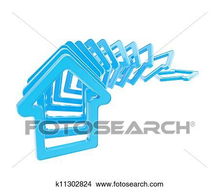 列. 線. の. 家. 紋章. 倒れる イラスト | k11302824 | Fotosearch