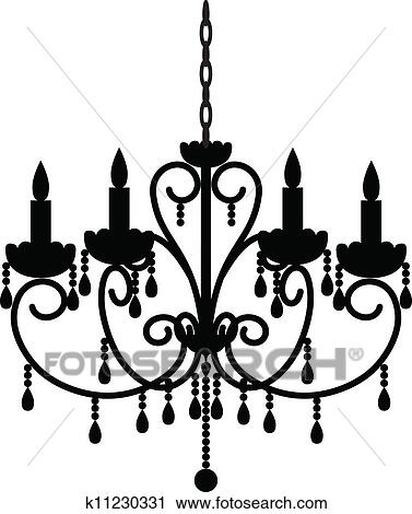 Clipart Antique Chandelier Fotosearch Search Clip Art Ilration Murals Drawings And