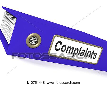Complaints File Shows Complaint Reports And Records Stock Illustration | k10751448 | Fotosearch