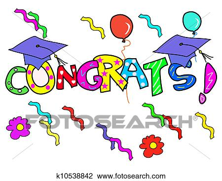 Congratulation! Drawing | k10538842 | Fotosearch